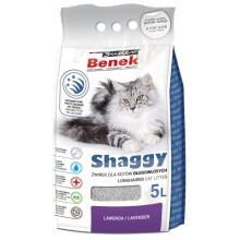 Наполнитель для туалета Super Benek Shaggy с запахом лаванды для длинношерстных кошек, 5л
