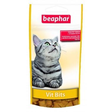 Beaphar Vit Bits - Подушечки для котов с мультивитаминной пастой, 35 г (арт. 12625).