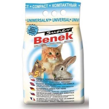 Наполнитель для туалета Super Benek 5л Универсальный компакт