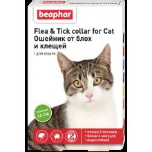 Beaphar Ошейник от блох и клещей для кошек (зеленый, 35 см) 10201