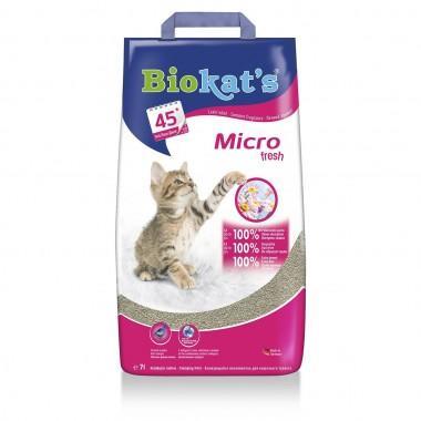 Biokat's Micro fresh комкующийся с ароматом цветов и цитруса