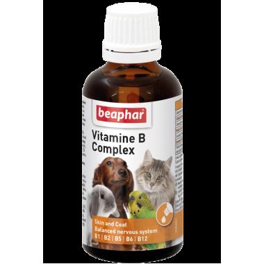 "Витамины Beaphar ""Vitamin- B -Komplex"" группы B, 50 мл. для животных"