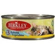 """""""Berkley"""" Консервы для котят с кроликом и овощами 100 гр."""