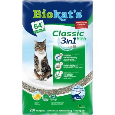 Biokat's Classic fresh 3in1 Fresh три вида гранул