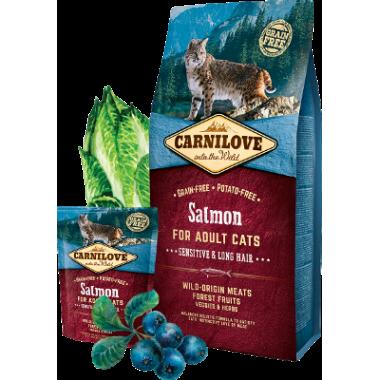 Carnilove Salmon for Adult Cats – Sensitive & Long Hair для взрослых кошек, лосось