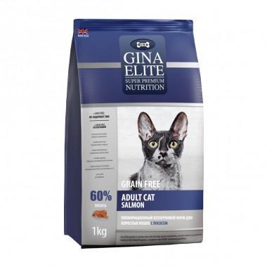 GINA Elite GF Cat Salmon беззерновой корм для кошек с Лососем 400г (NEW)