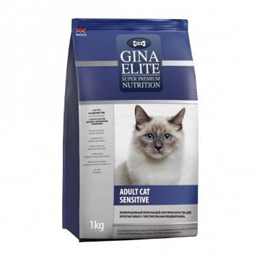 GINA Elite Cat Sensitive UK корм для кошек Сенситив (NEW) 400 г