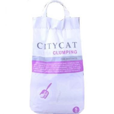Citycat Ultra Clumping (cупер комкующийся) из бентонитовой глины, 5 кг.