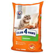 Club 4 Paws Премиум сухой корм для взрослых кошек с курицей