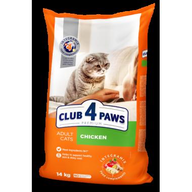 Club 4 Paws 14 кг Премиум сухой корм для взрослых кошек с курицей