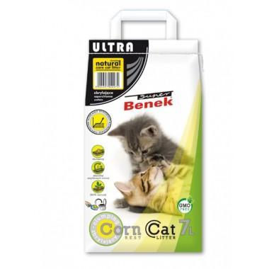 Наполнитель для туалета Super Benek Corn Cat Ультра Натуральный, 7л