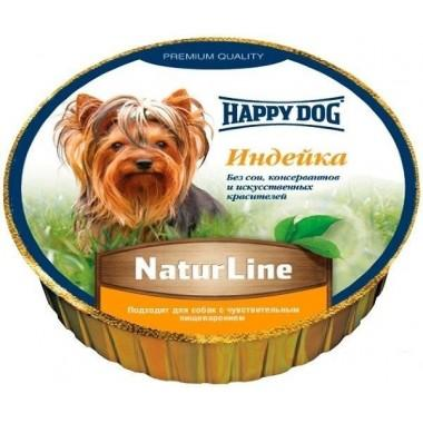 Паштет Happy Dog NaturLine (Индейка) 85 гр.