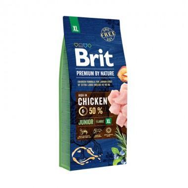 Полнорационный сухой корм Brit Premium by Nature Junior XL для молодых собак гигантских пород