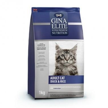 GINA Elite Cat Duck&Rice корм для кошек 1кг (NEW)