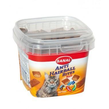Sanal Malt Anti-Hairball Bites (Санал подушечки для выведения шерсти), лакомство для кошек