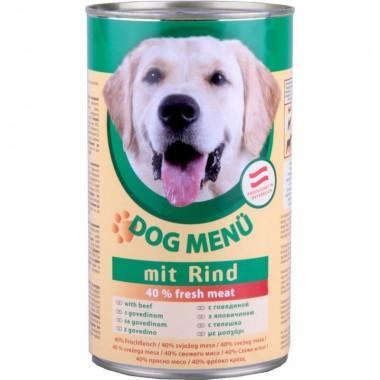 DOG Menu полнорационный консервированный корм для собак, с индейкой (415г.)