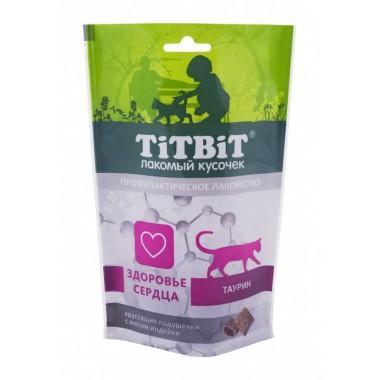 TiT BiT Хрустящие подушечки для кошек с мясом индейки для здоровья сердца