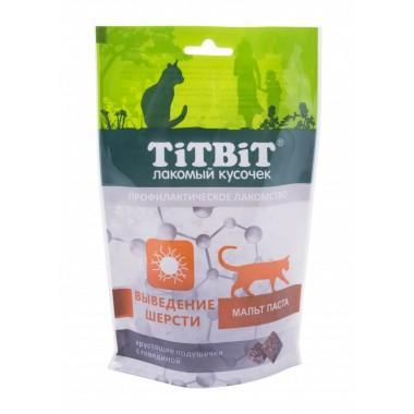 TiT BiT Хрустящие подушечки для кошек с говядиной для выведения шерсти