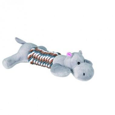 """Набор игрушек из плюша """"TRIXIE"""" для собаки, """"Animals with Rope"""", со звуком с веревкой,32 см (4 шт.) 35894"""