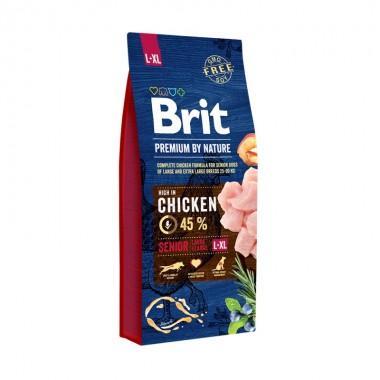 Полнорационный сухой корм Brit Premium by Nature Senior L+XL для пожилых собак крупных и гигантских пород
