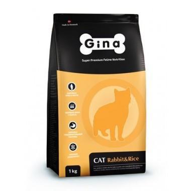 """""""Gina Rabbit&Rice"""" корм для кошек с кроликом"""