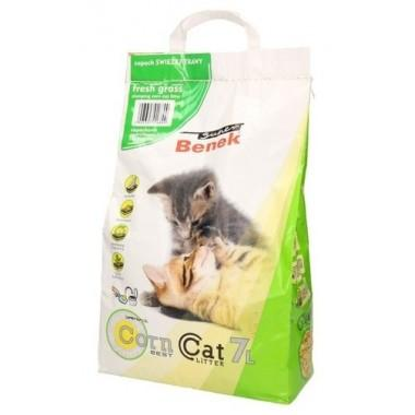 Наполнитель для туалета Super Benek Corn Cat Свежая трава 7л