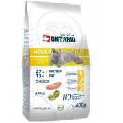 ONTARIO корм для домашних кошек с цыпленком (Adult Indoor), 1 кг