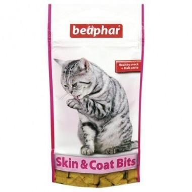Лакомство Beaphar Skin & Coat Bits подушечки для здоровой кожи и красивой и блестящей шерсти котов 35 гр. (11438)