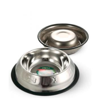 Миска металлическая на резинке с тиснением TRIOL 0,20л 1552