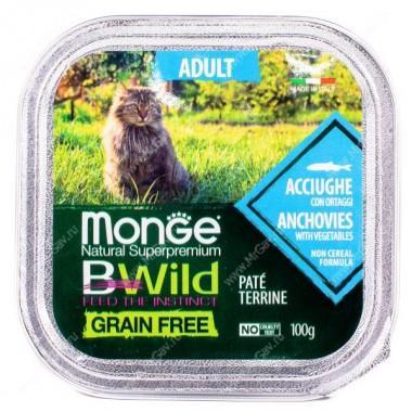Monge Cat Bwild Grain Free Adult (Анчоус), 100 гр