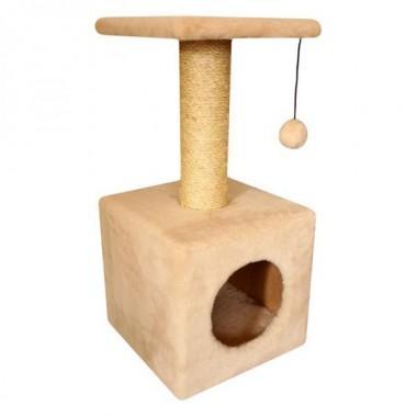 Cat House Домик с полкой мех + сизаль 65 см