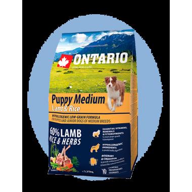 Ontario корм для собак средних пород, ягненок и рис, 1кг