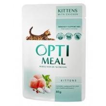 """Optimeal"" защита иммунитета консервированный корм для котят с курицей"