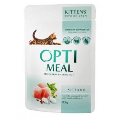 """Optimeal"" 85 г защита иммунитета консервированный корм для котят с курицей"