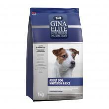 GINA Elite Dog White fish&Rice корм для собак с Рыбой и Рисом