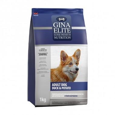 GINA Elite Dog Duck&Potato корм для собак Утка с Картофелем 3кг