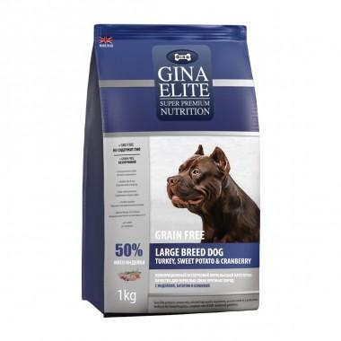 GINA Elite беззерновой корм для собак крупных пород с Индейкой, Картофелем и Клюквой 3кг