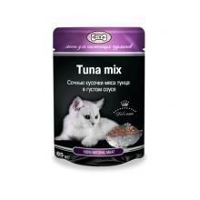 """Влажный корм """"Gina Tuna Mix"""" для кошек с тунцом (в соусе)"""