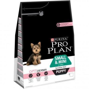 Pro Plan Small & Mini Puppy Sensitive Skin корм сухойn Корм сухой полнорационный для щенков средних пород с чувствительной кожей, с лососем и рисом 1 кг.
