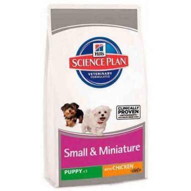 Hills Science Plan Puppy Small & Miniature Chicken - корм Хиллс (Hills) для щенков маленьких и миниатюрных пород до года, с курицей и индейкой. 0,3 кг. 2816