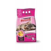 Наполнитель для туалета Super Benek Компакт Цитрусовая Свежесть, 5л