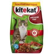"""Kitekat """"Мясной пир"""" - сухой корм для взрослых кошек 1 кг."""