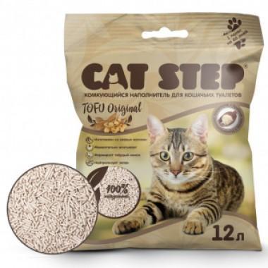 CAT STEP™ Tofu Original 6L растительный комкующийся