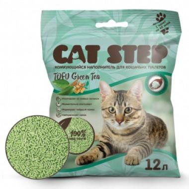 CAT STEP™ Tofu Green Tea растительный комкующийся