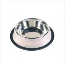 ТРИОЛ Миска для кошки металлическая на резинке 0,25л