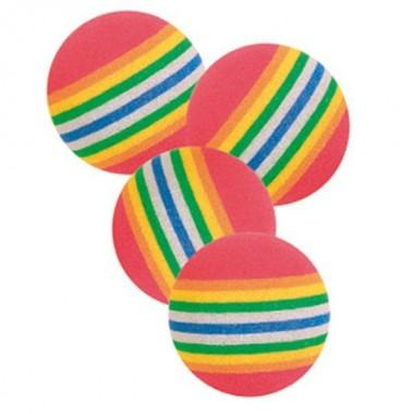 """Игрушка """"TRIXIE"""" для кошки каучуковая, мячик радужный, диам. 3,5 см (4 шт) (арт. 4097)"""
