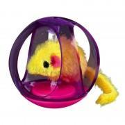 Игрушка Trixie Bobo Ball для кошек пластиковая, шарик с мышкой, 6 см 4090