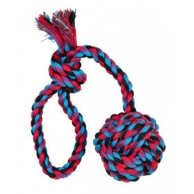 """Игрушка """"TRIXIE"""" для собаки """"DENTAfun"""" в виде верёвки с узлом и ручкой"""