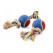Игрушка для собак TRIOL Веревка 3 узла и 2 мяча