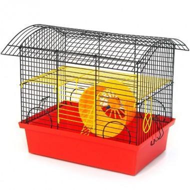 """Клетка для грызунов крашеная """"Вагончик"""" (330*230*320 мм)"""